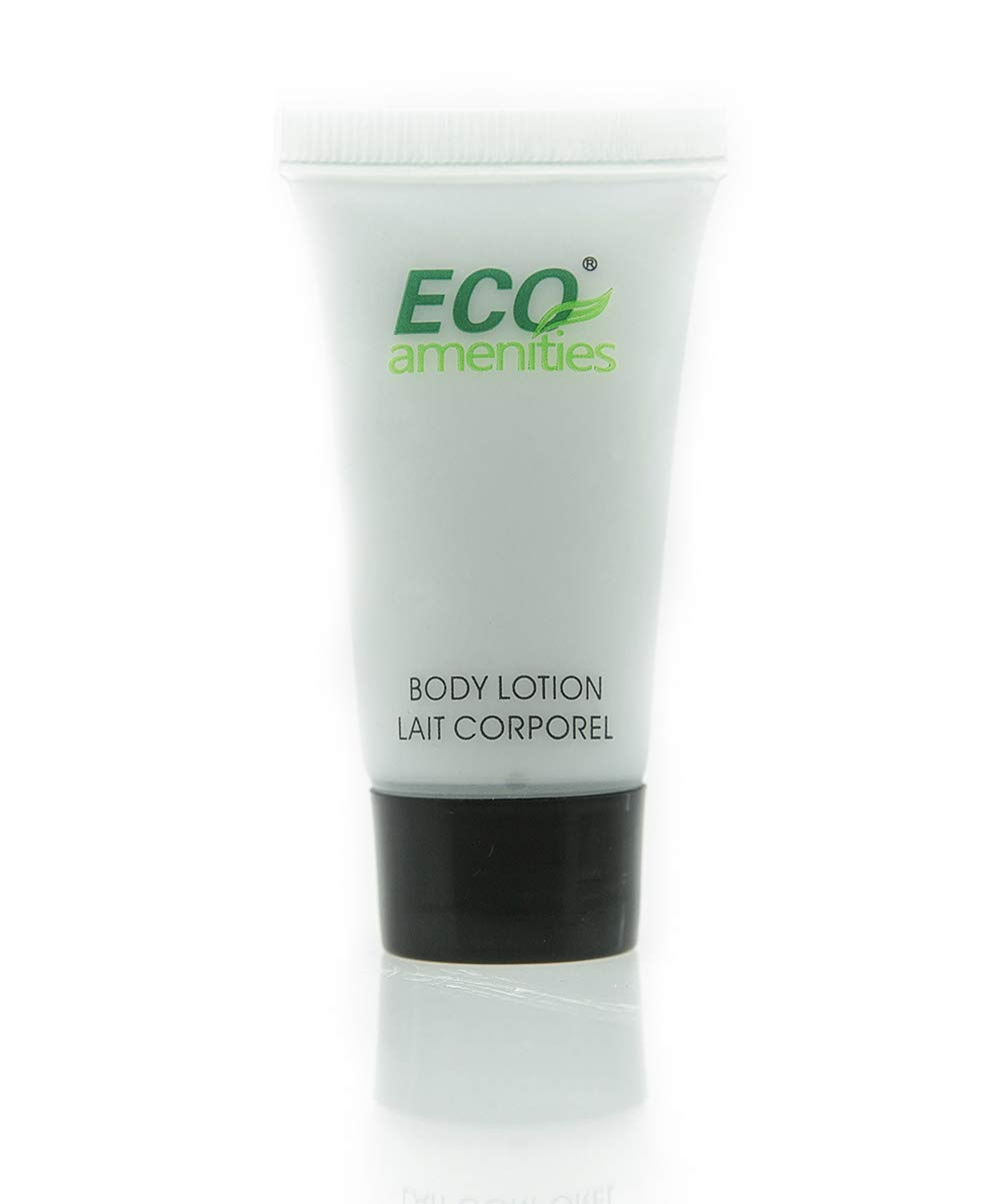 ECO AMENITIES Travel size 0.75oz hotel body lotion bulk, Clear, Green Tea, 288 Count