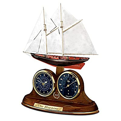 The Bluenose Desk Clock And Thermometer by The Bradford Exchange