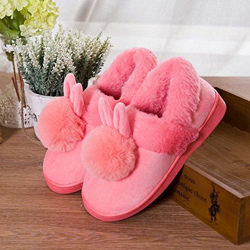 Habitación Zapatillas Caliente 39 Del Zapatos Suaves De Calientes Para 38 Invierno De 37 Invierno Deslizamiento Laxba Pink38 xTPAqUwIA
