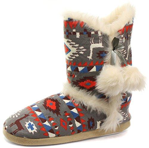 Dunlop GRETEL FARAH BROMWYN - Zapatillas de estar por casa de Material Sintético para mujer Rojo rojo ADELPHE GREY