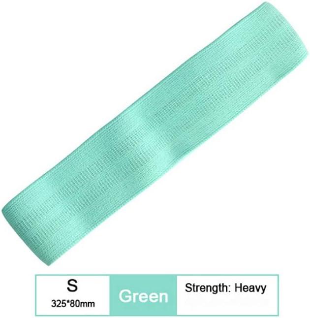 1pc del ancho de banda del cinturón de algodón Resistencia venda de la aptitud El entrenamiento con ejercicios piernas circuito anillo antivuelco Slip,Green-S