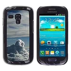 LECELL--Funda protectora / Cubierta / Piel For Samsung Galaxy S3 MINI 8190 -- Nubes León --