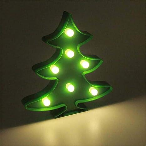 QiXian Luz de Noche Disparos Al Árbol de Navidad Decoración ...