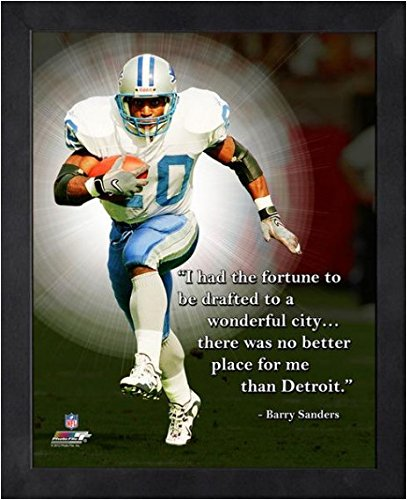 Barry Sanders Wall - Barry Sanders Detroit Lions NFL framed Pro Quotes 16x20