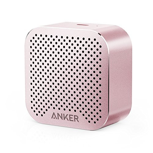 Price comparison product image Anker SoundCore nano Bluetooth Speaker with Big Sound,  Super-Portable Wireless Speaker with Built-in Mic for iPhone 7,  iPad,  Samsung,  Nexus,  HTC,  Laptops and More - Pink