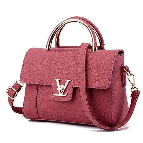 Shoulder Fashion Messenger Purse Handbag Women Tote Red Wine Leather Bag Hobo PU Hot Lady tdUwfgx6qt