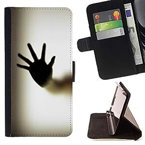 DEVIL CASE - FOR LG G3 - Hand Palm Window Fingerprint Art Body - Style PU Leather Case Wallet Flip Stand Flap Closure Cover