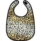 Tan Cheetah Print Baby Bib from Sourpuss Clothing