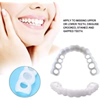 Teeth Whitening Cosmetic Perfect Smile Top and Bottom Comfortable False Teeth Snap on Instant Smile for Men Women Veneers Dentures (2pcs)