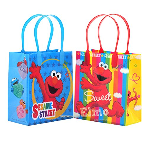 Elmo Sesame Street Party Favor Goodie Small Gift Bags 12 (Elmo Girl Party Supplies)