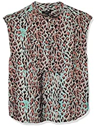 J.Crew Women's Printed Drapey Cap Sleeve Top