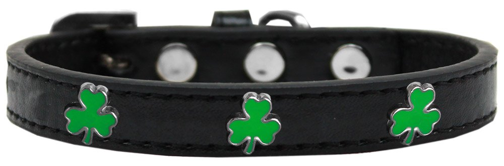 Black Size 16 Black Size 16 Mirage Pet Products 631-21 BK16 Shamrock Widget Dog Collar, Size 16, Black