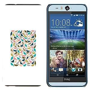 TECHCASE---Cubierta de la caja de protección para la piel dura ** HTC Desire Eye ( M910x ) ** --Blanco Trullo minimalista del cartel