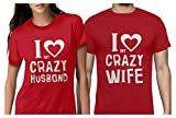 Funny Husband & Wife Couples Gift Anniversary/Newlywed Matching Set T-Shirts Man Red Medium/Woman Red Small