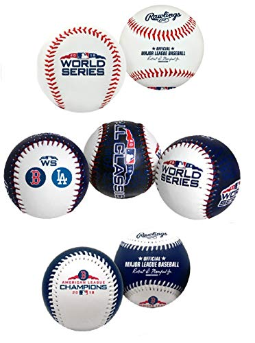 (Rawlings 2018 World Series Boston Red Sox Replica Baseball Set (3 Ball Set))