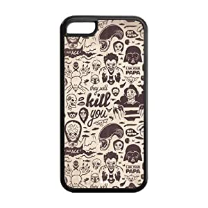 5C Phone Cases, StarWars Hard TPU Rubber Cover Case for iPhone 5C