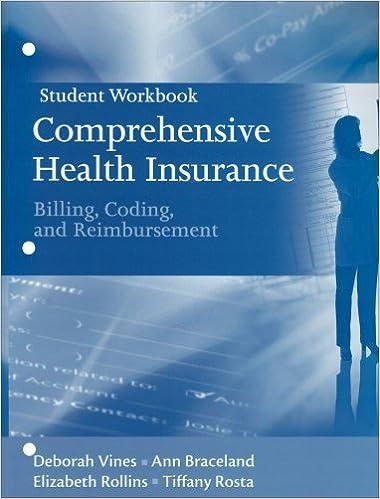 Student Workbook for Comprehensive Health Insurance: Billing, Coding and Reimbursement by Vines-Allen Deborah Braceland Ann Rollins Elizabeth Rosta Tiffany (2008-08-01)