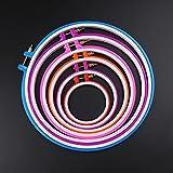 Waymeduo Tambour rond de broderie Croix Stitch Hoop Ring (couleur aléatoire)