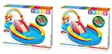 Intex Rainbow Ring Inflatable Play Center, 117 in X 76 in X 53 in lUwsKz, for Ages 2+, (2 Pack)