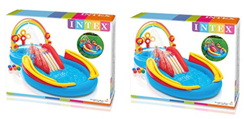 Intex Rainbow Ring Inflatable Play Center, 117 in X 76 in X 53 in lUwsKz, for Ages 2+, (2 Pack) by Intex