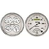 Auto Meter 1203 Old Tyme White II 5' Tachometer / Speedometer Combo Kit Box