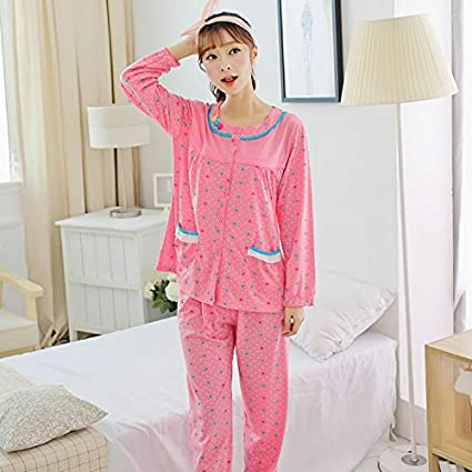 9de7a49760 MH-RITA Plus Size Xxxl Pajamas Sets For Women Autumn And Winter Women S  Pajamas 100% Cotton Sleepwear Lover Night Suits Xnf2517-737-1