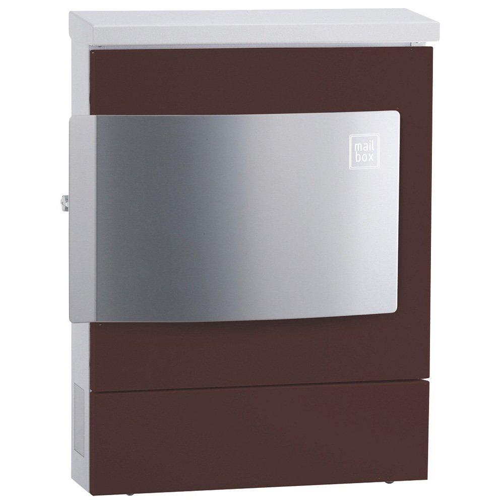 CLUM-01 ユニソン 壁付け郵便ポスト クルム 右開き仕様(新タイプ) チョコブラウン B00OAXA6HK 20580 チョコブラウン チョコブラウン