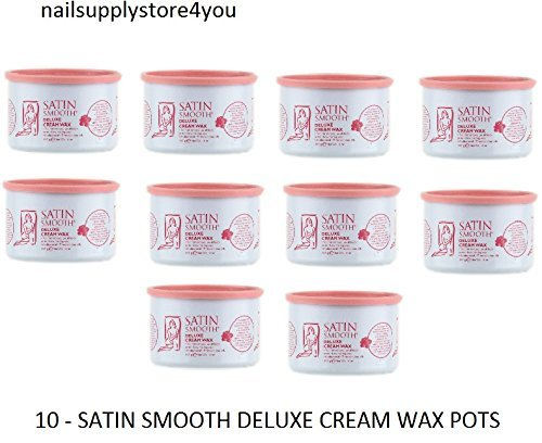 10 Cans - Satin Smooth Deluxe Cream Wax 14oz/397g by Satin Smooth