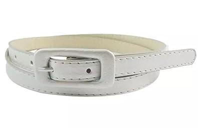 Sucre Belts reg  Ceinture fine tendance pour femmes en cuir PU - blanc ... cc459de4f50