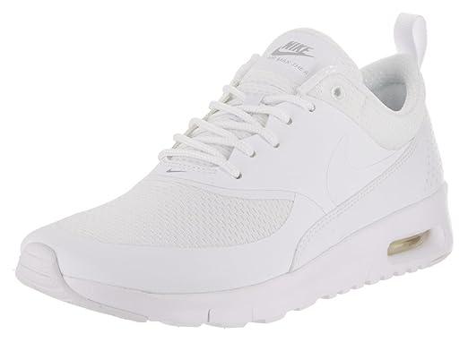 NIKE Kids Air Max Thea (GS) White/White Metallic Silver Running Shoe 7 Kids US