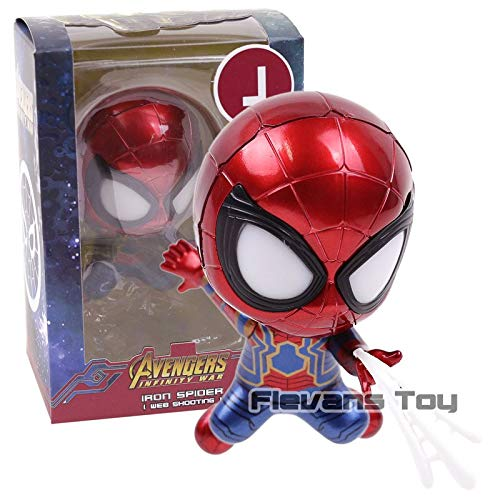 J -Type1195 Avengers Infinity War Iron Spider with Led Light PVC Figure Collectible Model Toy Spiderman Car Decoration Doll - Captain America Legends - Marvel Venom Action Figure