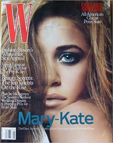 W Magazine January 2006 : Mary-kate (Prada Logo Jacquard)