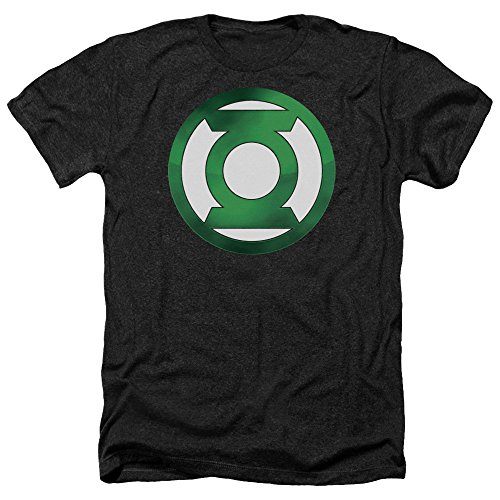 John Stewart Green Lantern Costume (Green Lantern Shaded Logo Superhero Costume Adult Heather T-Shirt Tee)