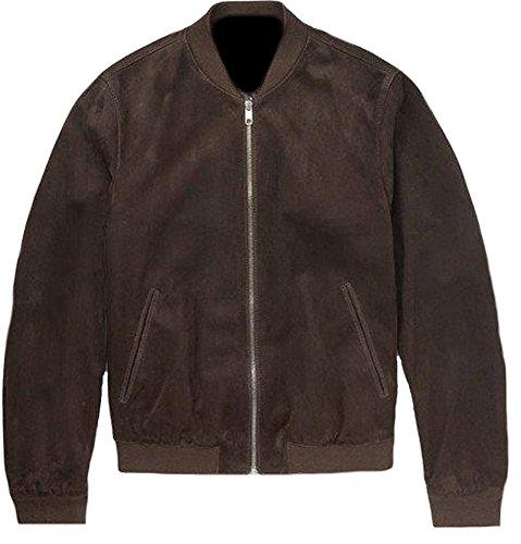 Marrone bomber Da Uomo Scamosciata In Classyak Pelle Colore Suede Brown qRwSd06xg