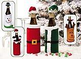 Christmas Themed Wine Bottle Bags (Fireplace - Raindeer - Green Coat)