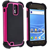 eForCity Hybrid Armor Case for Samsung? Galaxy S II T-Mobile T989, Black / Hot Pink