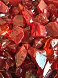 Red Large 1/2'-1' Fire Glass Rocks 10lbs