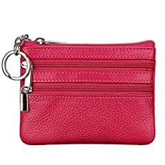 Features: Item Type:Wallet Closure Type:Zipper Item Width:9 cm Item Length:11 cm Gender:Unisex Pattern Type:Solid Lining Material:Polyester Style:Fashion Main Material:Genuine Leather Wallet Length:Short Genuine Leather Type:Cow Leather Walle...