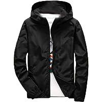 Macondoo Men Hooded Lightweigth Long Sleeve Coat Windbreaker Outwear Jackets