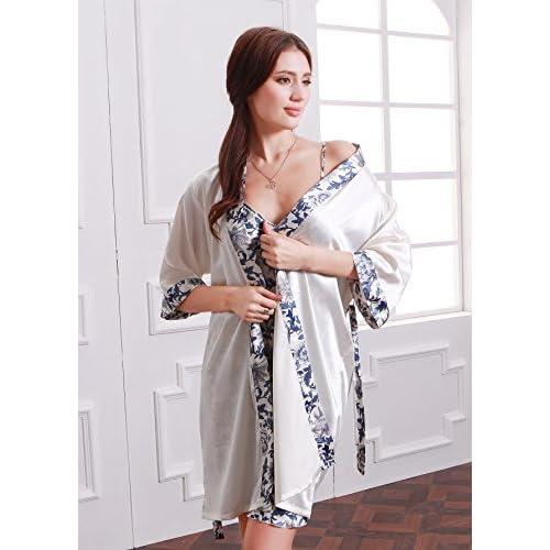 best Olivery Womens Faux Silk Sleepwear 3fdb945a1