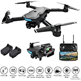 PinPle Drone with Camera and GPS, Live Video 1080P 5G WiFi FPV HD Camera RC Drone Quadcopter with Follow Me, Altitude Hold, Headless Mode,One Key Return Home, Long Flight Time, Speed Control