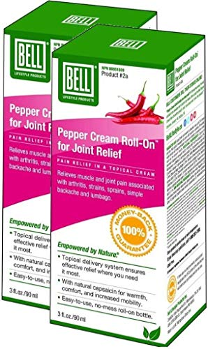 (Bell Joint Relief (Pepper Cream Roll-On - 90 ml) 2-Pack)