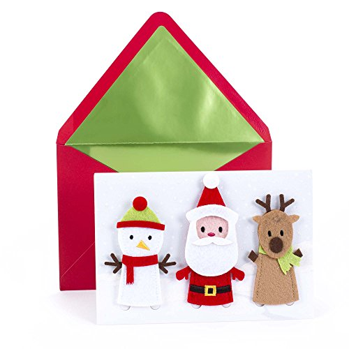 (Hallmark Signature Christmas Card for Kid (Removable Finger Puppets))