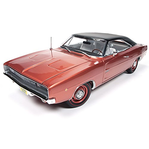 1:18 Scale 1968 Dodge Charger RT Diecast Car with Opening Hood Trunk and Doors by The Hamilton Collection (1968 Trunk)