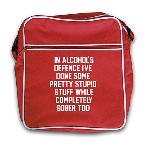 Bag Red Retro Defence In I've Sober Alcohol's Done Flight Red Stuff Stupid BnxUq4z7n