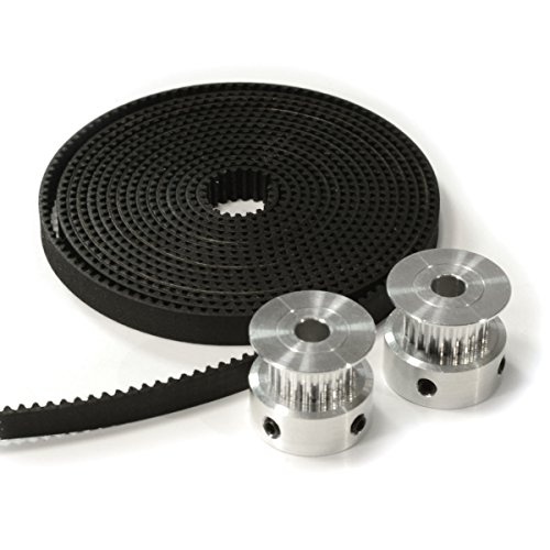 2-X-Aluminum-Gt2-20t-Pulley-and-2-Meters-Belt-for-Reprap-3d-Printer-Prusa-i3
