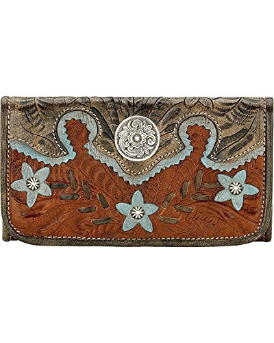 american-west-womens-aw-desert-wildflower-tri-fold-wallet-brown-one-size