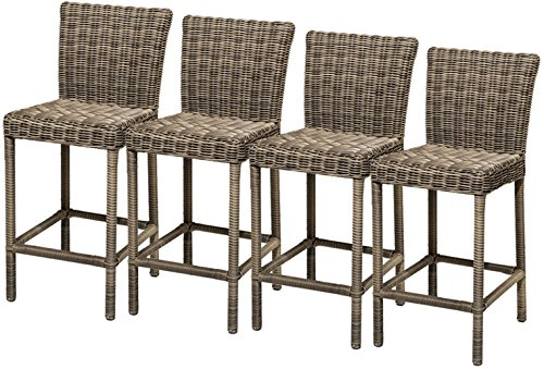TK Classics 4 Piece Cape Cod Barstools with Back, Vintage Stone Review