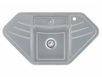 systemceram Vega Eck titanio di ceramica lavello Funzionamento ...