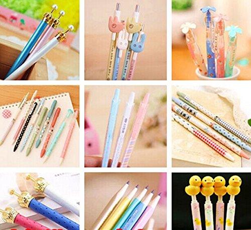 15pcs Cartoon School Kids Kawaii Korean Mechanical Pencil with Lead Refill Jelly Eraser set (Lucky Crown Design)